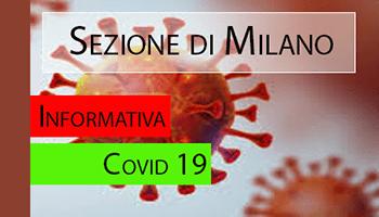 Sezione di MILANO – COVID-19 Informativa