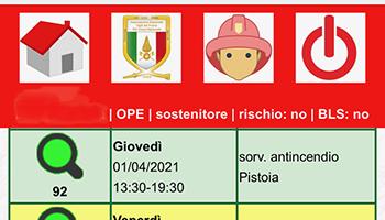 """Sezione di PISTOIA – Novità informatica: online """"Programma dei servizi""""."""