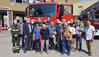 Sezione di PESARO e URBINO – festeggiamenti per i 100 anni del Vigile del Fuoco Aroldo Genga.