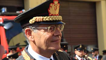 Il saluto del Capo del Corpo Fabio Dattilo