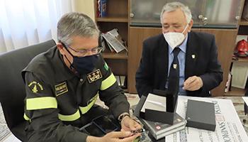 Ufficio di Presidenza – Saluto dell'ANVVF al Capo del Corpo ing. Fabio  DATTILO