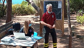 Sezione di LIVORNO – Giornata di Prevenzione per la difesa attiva dal rischio incendi boschivi.