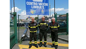 Sezione di MONZA – BRIANZA e MILANO – Attività di supporto centro vaccinale