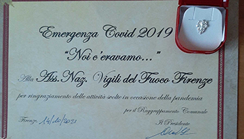 Coord. Reg. TOSCANA – Consegna Attestato di Riconoscimento