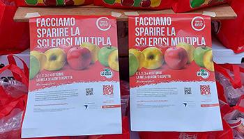 """Sezione di PISA – La Mela dell'AISM – 2021- """"Facciamo sparire la sclerosi multipla""""."""
